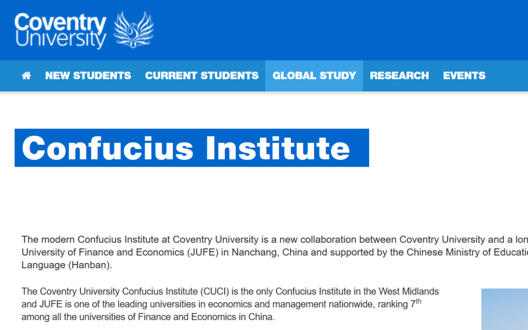 The Coventry University Confucius Institute